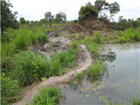 Diversion of water to fish pond