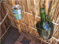 Eco pit latrine with water for washing