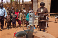 Water-new shallow well with handpump